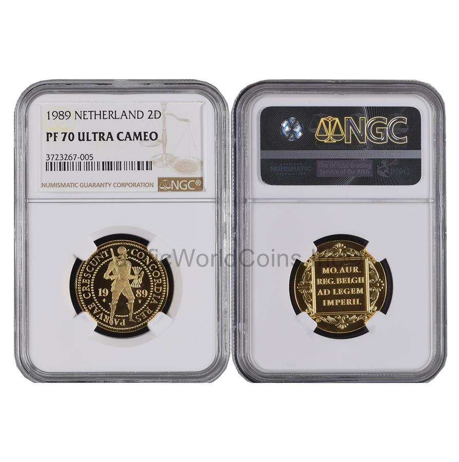 Netherlands 1989 2 Ducat Gold NGC PF70 ULTRA CAMEO