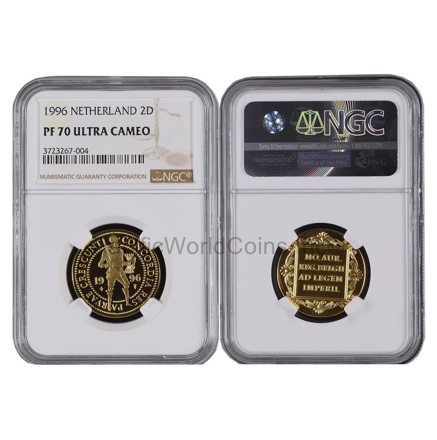 Netherlands 1996 2 Ducat Gold NGC PF70 ULTRA CAMEO