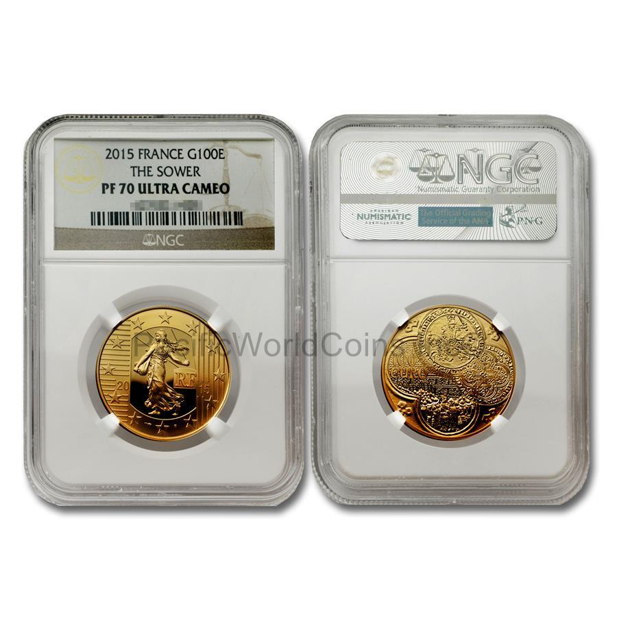 France 2015 The Sower 100 Euro Gold NGC PF70 ULTRA CAMEO